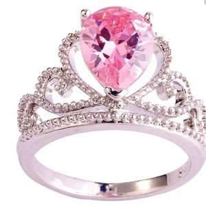BE MINE 💗Pink Crown Fashion Ring Size 7